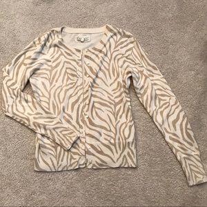 Old Navy zebra cardigan